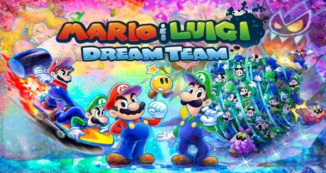 Mario Luigi Dream Team Update 1 1 Decrypted 3ds Eur Usa Rom Mario And Luigi Team Wallpaper Dream Team