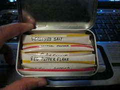 Another awesome way to use straws to stream line your supplies. Altoid can and MM mini can shown. Neat!: Backpacking, Idea, Spices Kits, Backpacks Spices, Travel Spices, Ultra Lightweight Backpacks, Straws, Altoids Tins, Altoids Cases