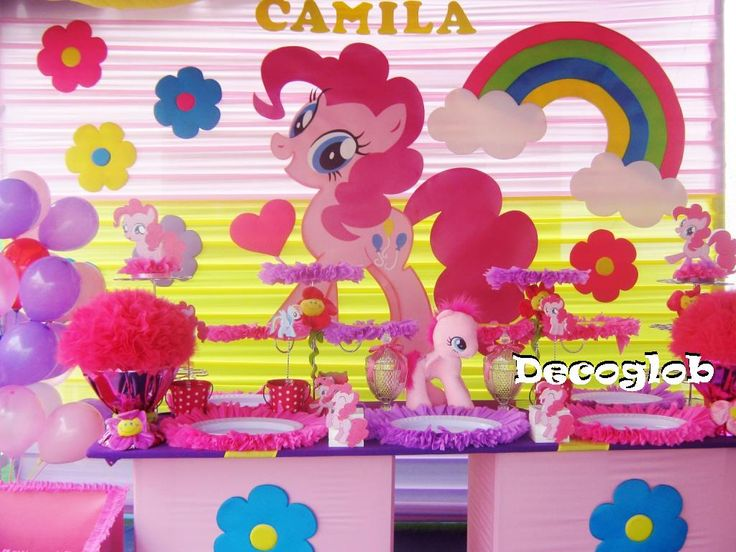 Fiesta de my little pony decoraci n de fiestas - Decoracion fiestas infantiles ...