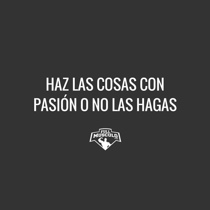 Si no tienes pasión al hacerlo entonces es que no lo quieres lo suficiente. #goals #NYE #fitness