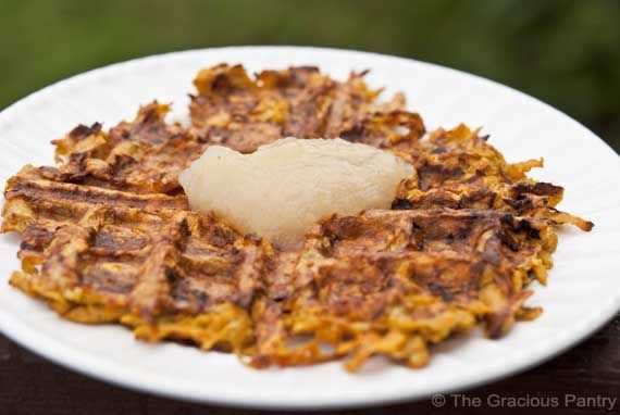 Sweet Potato Waffles. My skepticism of GF waffles is outweighed only by my love of waffles generally.