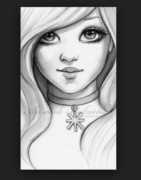 Awesome drawing of pretty girl