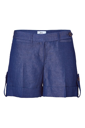 clean cut denim shorts