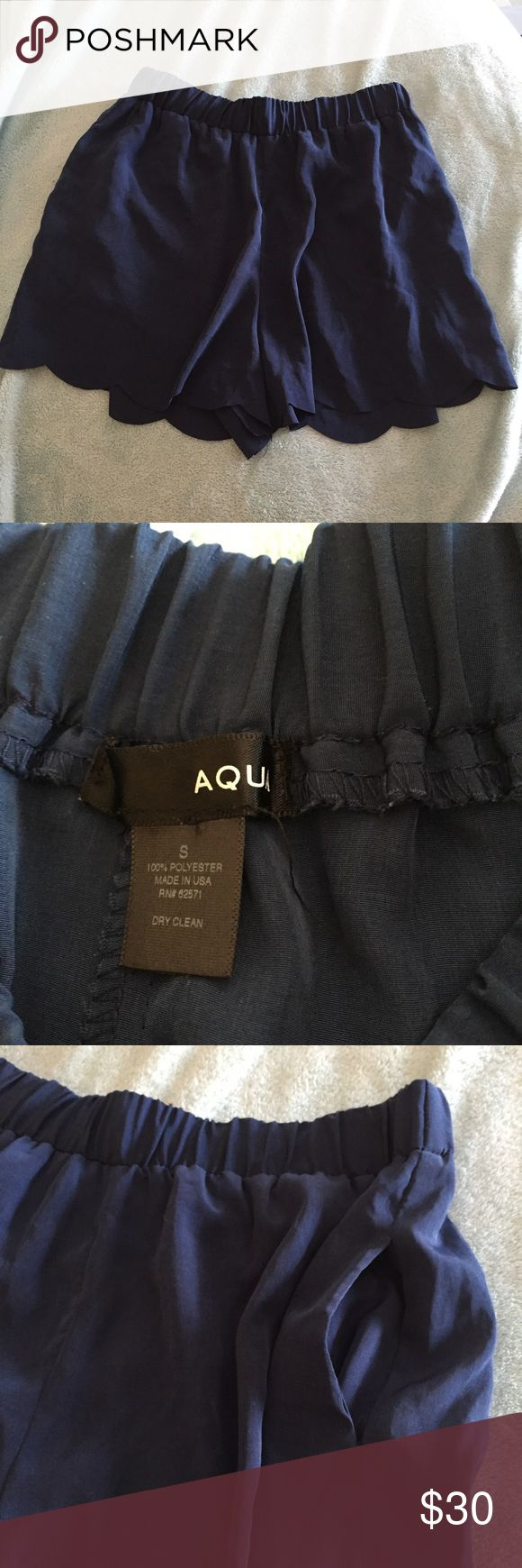 Aqua scalloped shorts Worn once ❌ NO TRADES ❌ Aqua Shorts