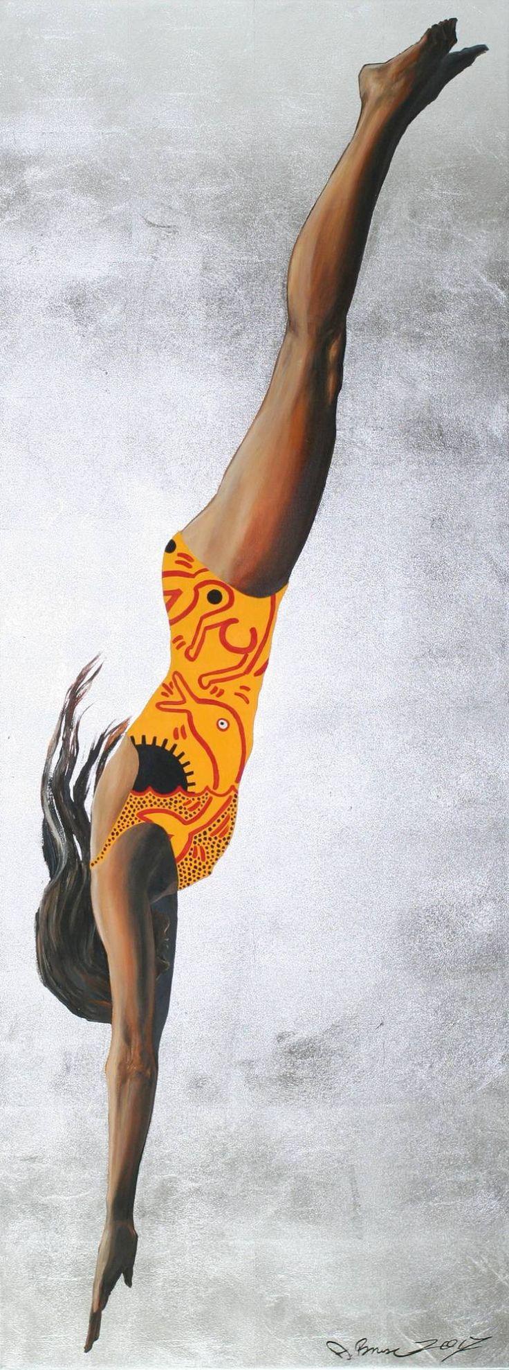 "Saatchi Art Artist Arno Bruse; Painting, ""The Art of Diving IX"" #art"