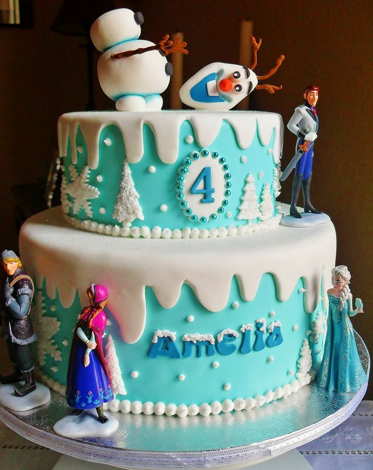Frozen Cake would be pretty- could but figurines on top.