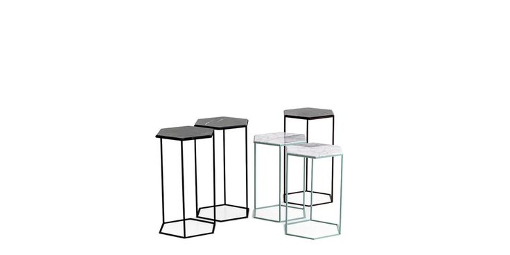 A perfect little side companion. The Hexxed table completes the 2014 metal collection which focuses on clean lines, nice details like the hexagon tubing and special finishes. Coming in 2 heights and three color combinations. The powder coated Vintage Copper, Polished Copper and Matt Black are finish with white or black marble tops. Combining the... View Article