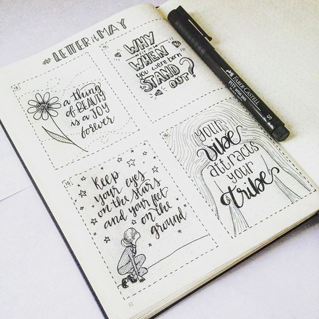 Another page of my bulletjournal completed!  #letteritmay from the 13th to the 16th. ⭐️✨