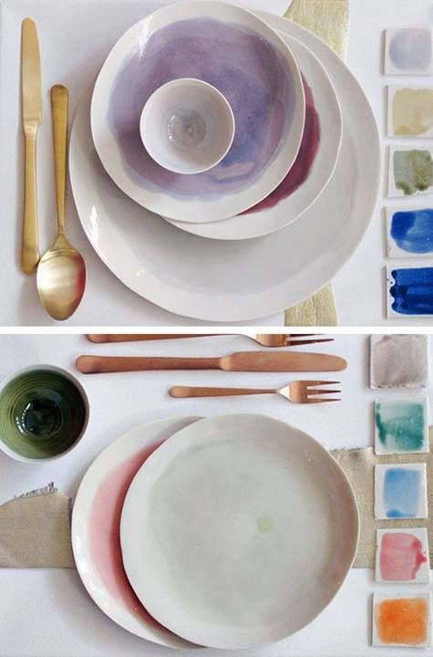 When it comes to a trendy dinnerware, It's all about mix and match. Colorful combinations and various plate sizes are absolutely HOT right now (and it's here to stay).