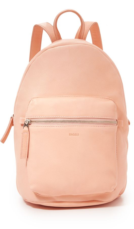 Love the color of this Baggu Leather Backpack! Get it now on ShopStyle