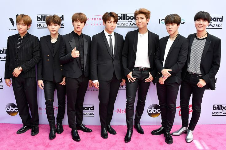 BTS, the popular seven-member South Korean boy band, made their U.S. awards show red carpet debut at the 2017 Billboard Music Awards