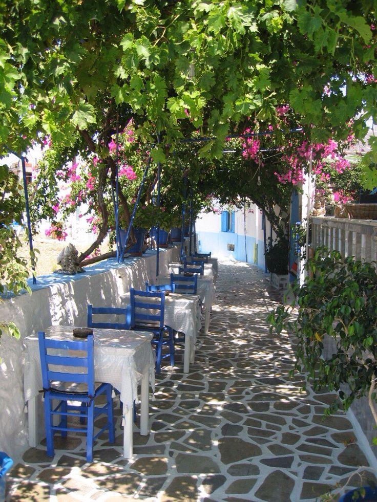 Beautiful alley in Kalymnos island