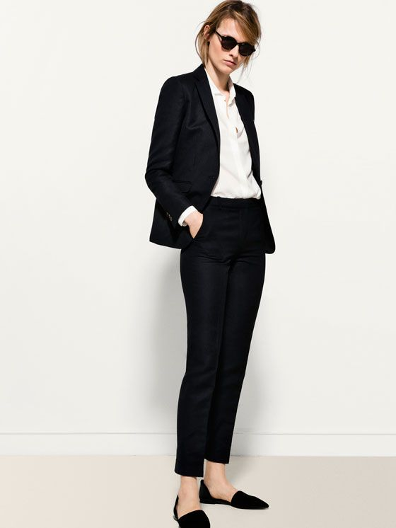 NAVY SUIT TROUSERS Mossimo Dutti