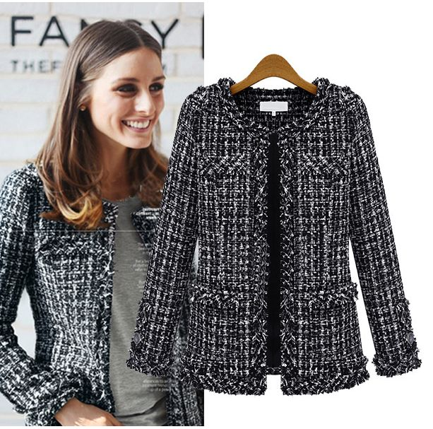 Olivia Palermo / Goodnight Macaroon Tweed Classic Coco Chanel Style Jacket #celebstyle