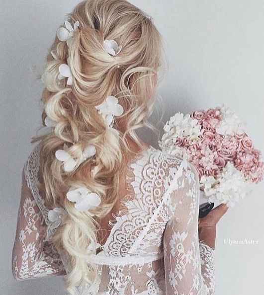 Featured Hairstyle: Ulyana Aster; Wedding hairstyle idea.