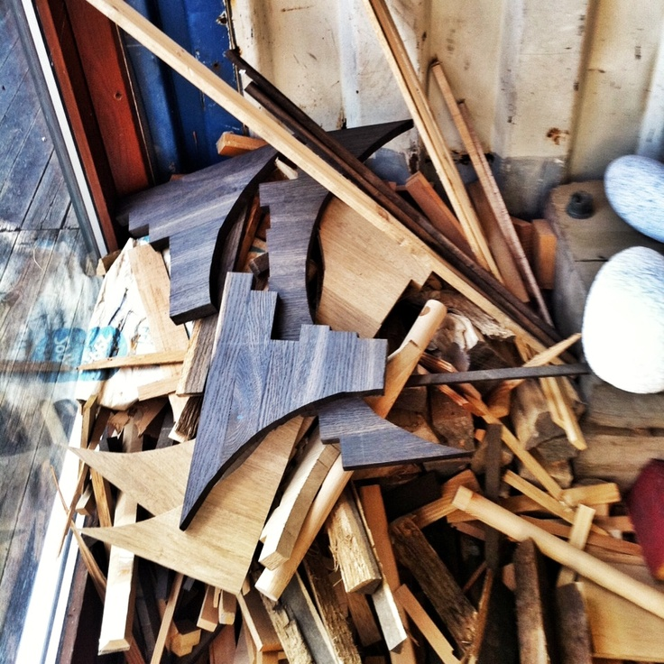 Waste not want not, what to make from these off cuts? Taken at one of our Scandinavian manufacturer's workshop.