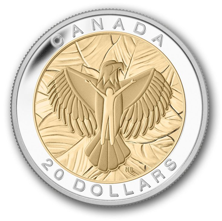 Canada Post - 2014 $20 Pure Silver Coin- The Seven Sacred Teachings- Love- Eagle - Coins