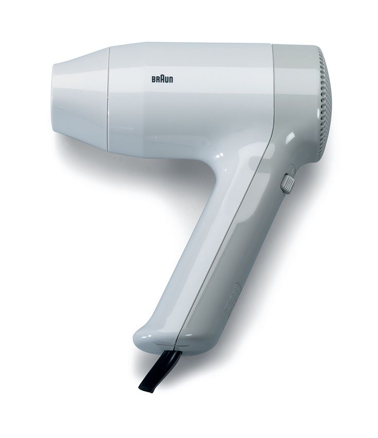 Heinz Ullrich Haase; #PGC 1000 Hand-Held Hair Dryer for Braun, 1978.
