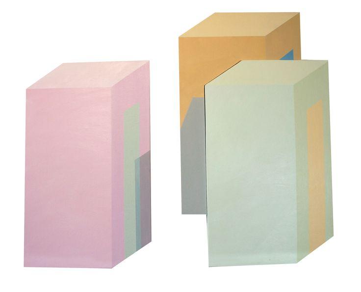 "Karolina Barcel, ""Pastelizm 2.3"" acrylic on canvas, modern architecture, architecture on painting, young artist, polish art"