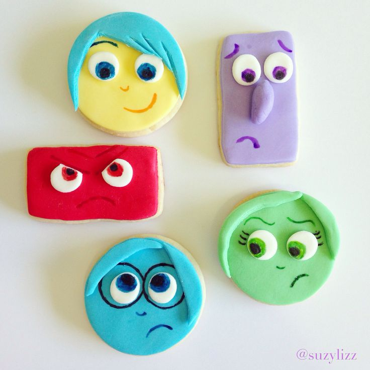 Disney Pixar's Inside Out cookie tutorial. mamabeesfreebies.com