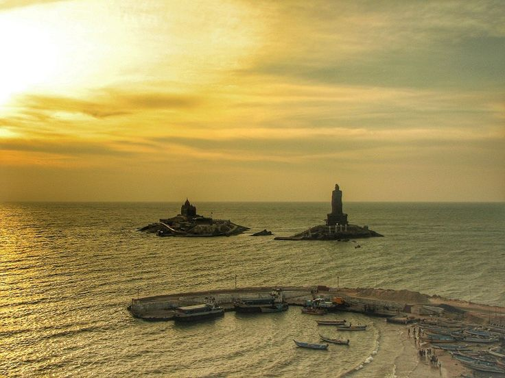 Kanyakumari at sunrise, tip of india
