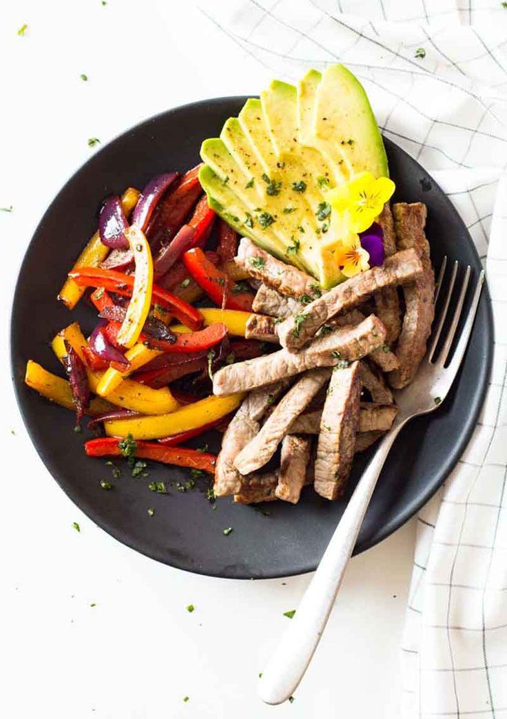 Beef Fajitas recipe with nutritional info