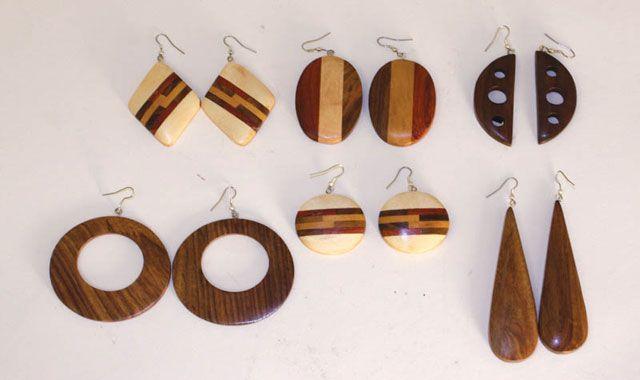 wooden eaarrings