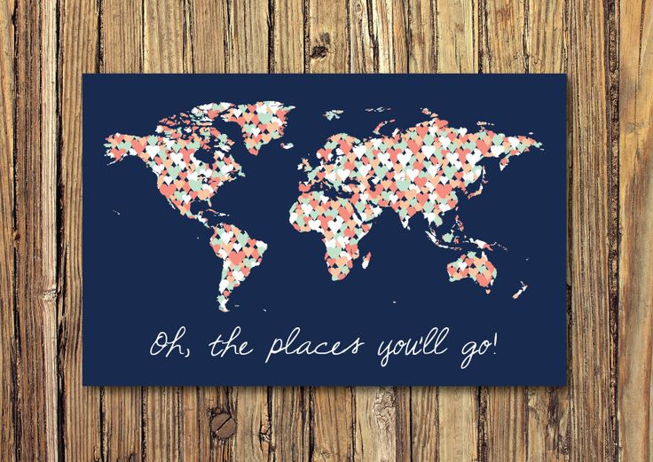 15 best weltkarte images on pinterest world maps worldmap and oh the places youll go world map hearts gallery wrapped gumiabroncs Image collections