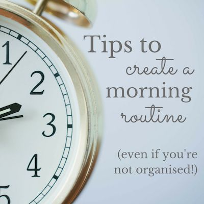 4 top tips to take the stress out of your morning - @hiplittleone