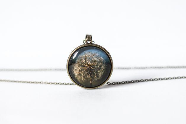 Naszyjnik z dmuchawcem - Art-Of-Nature - Medaliony