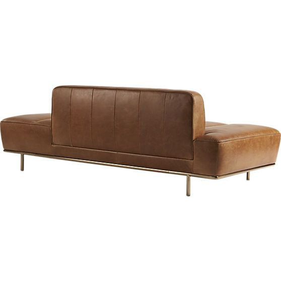 Cb2 Century Leather Daybed Sofa With Adjustable Backrest
