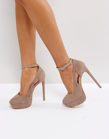 a77716e164 Heels by ASOS Collection, Faux-suede upper, Ankle-strap fastening, Slim  toe, Pointed high heel. Score a wardrobe win no matter the dress code with  our ASOS ...