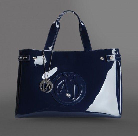 Handbag Armani in pvc blu