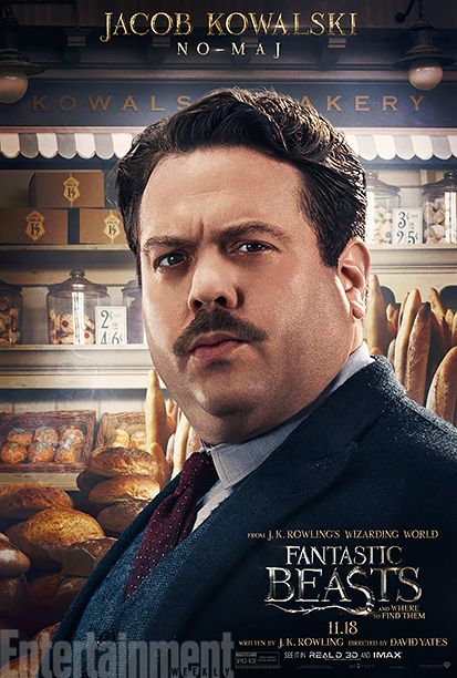 'Fantastic Beasts and Where to Find Them': See 9 Magical Character Posters | Dan Fogler as Jacob Kowalski | EW.com