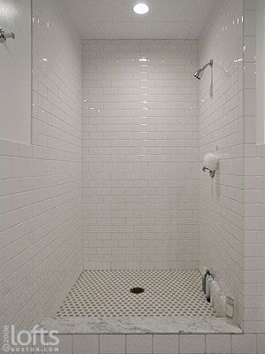 Rectangle Tile Shower Stall Designs The Open Shower
