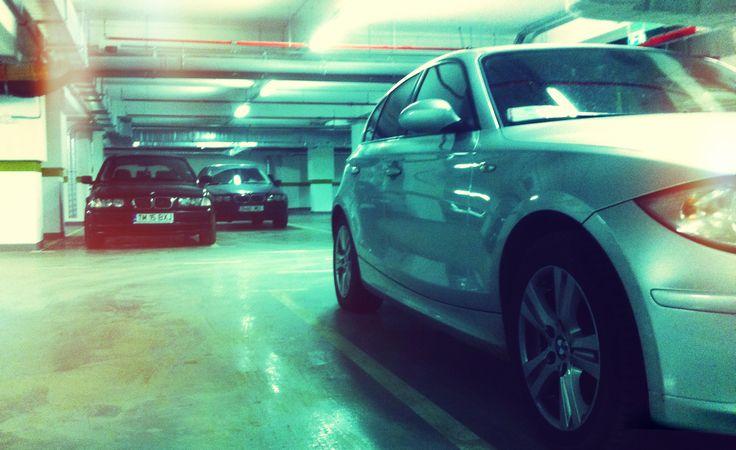 Its's all about the Bimmers - underground parking garage, Bucharest