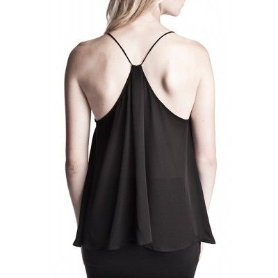 Stylein - Dust Silk Top Black - Kotyr.com