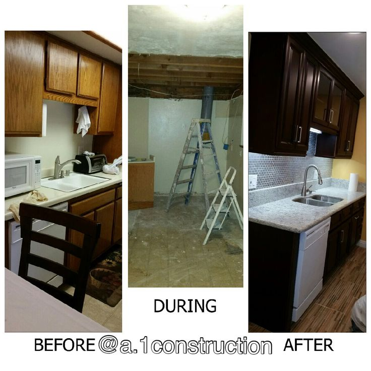 Before & after kitchen renovation