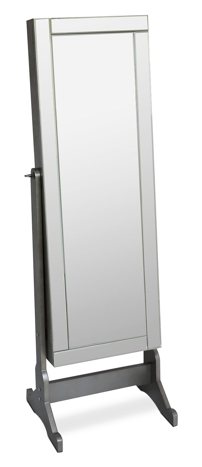 Accent and Occasional Furniture - Newmarket Jewelry Mirror Cabinet with Panel Border