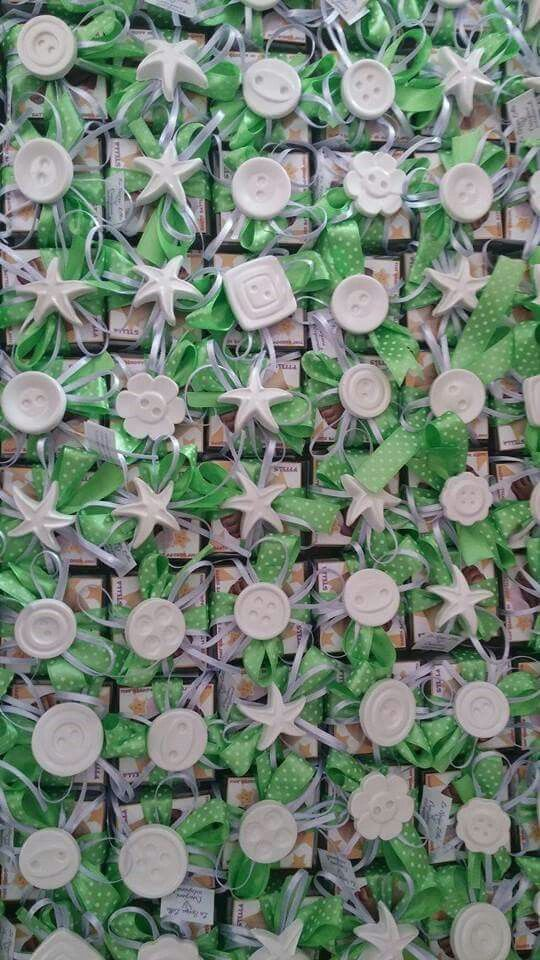 Bomboniere, gessi profumati, pois verde