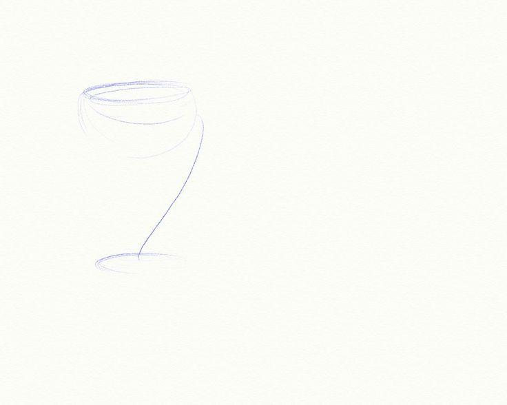 sketch - wine glass
