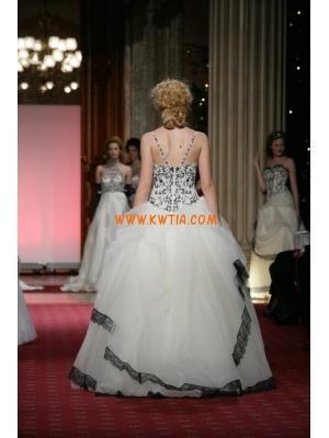 paski spaghetti koronki tiul stylista nowoczesna suknia ślubna 2013