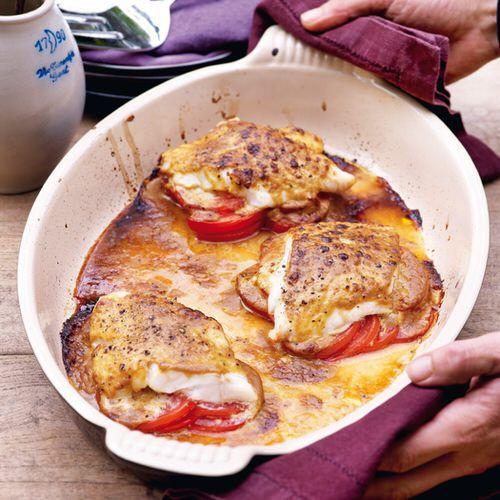 Kabeljauw met mosterd-sojasaus en tomaten uit de oven - recept - okoko recepten