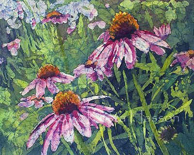 Garden Staple - Watercolor on Rice Paper Painting by Krista Hasson  SOLD
