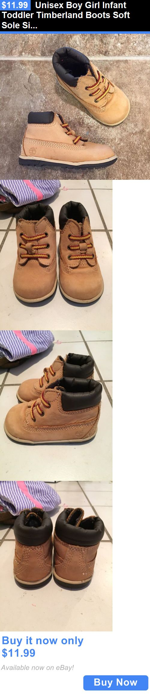 Baby Girls Shoes: Unisex Boy Girl Infant Toddler Timberland Boots Soft Sole Size 3C Crib BUY IT NOW ONLY: $11.99