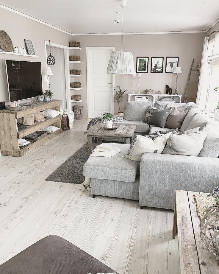 @ Homebymarlene auf Instagram: Salon grau, beige, Holz