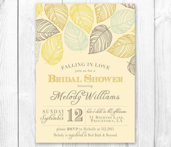 falling in love fall bridal shower invitation fall baby shower invitation diy printable