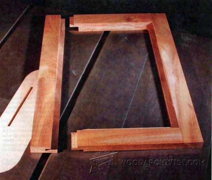 Tablesawn Glass Panel Doors   Cabinet Door Construction Techniques |  WoodArchivist.com