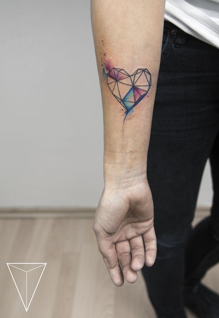 missPANK tattoo  geometric heart  https://www.facebook.com/misspanktattoo/?fref=ts