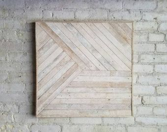 Reclaimed Wood Wall Art Lath Triangle by EleventyOneStudio on Etsy